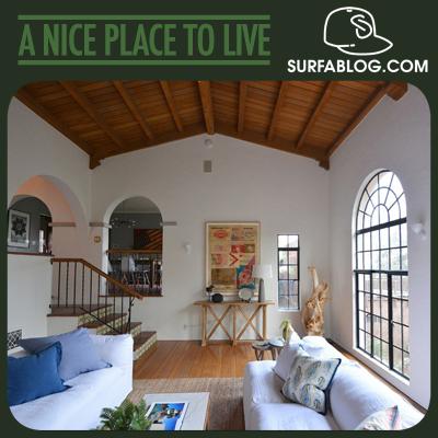 Surfablog la casa di shepard fairey obey in vendita per for Disegni della casa di tronchi