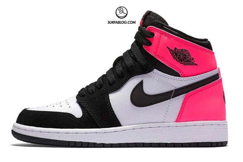air jordan 1 rosa bianche e nere