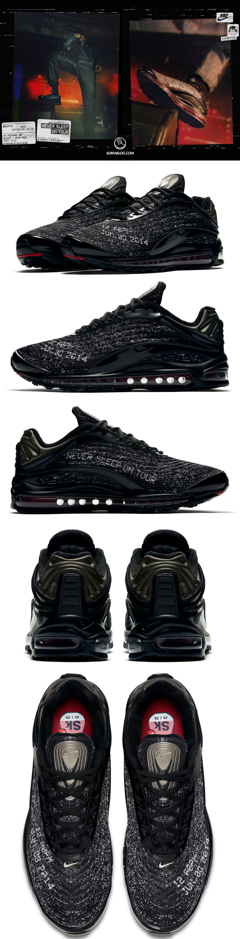 air max deluxe nere